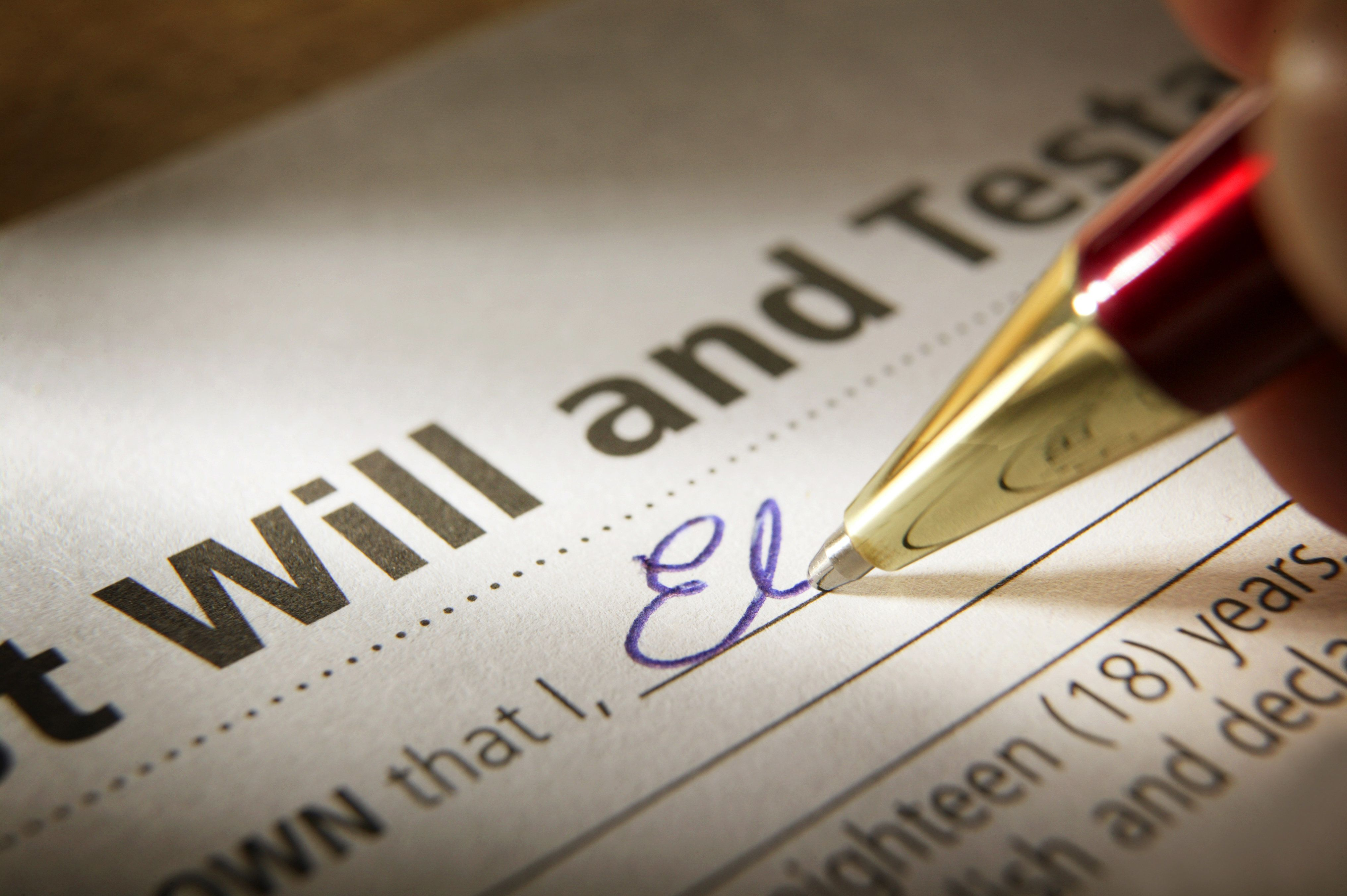 Writing a simple will