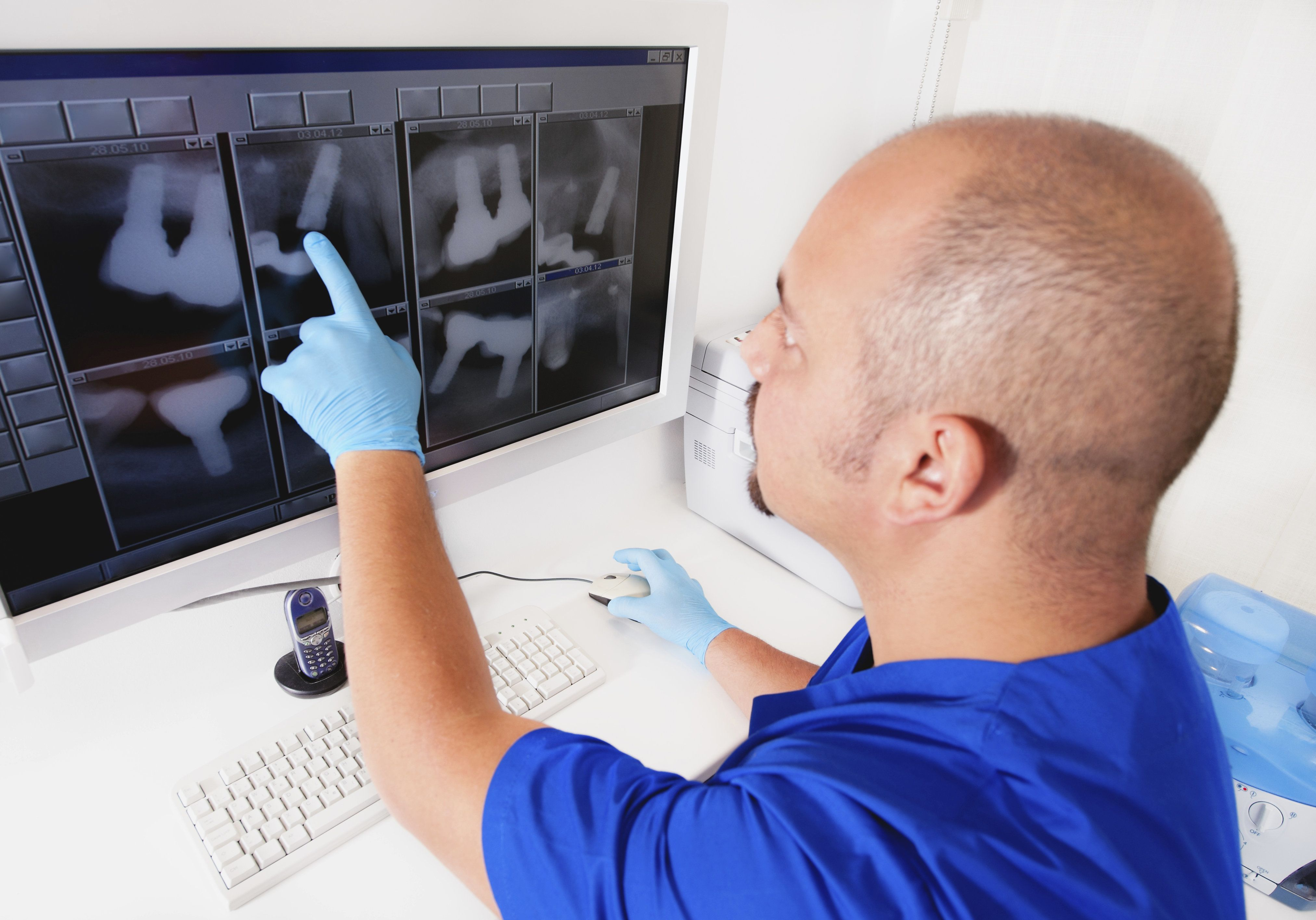 Looking at dental x-rays