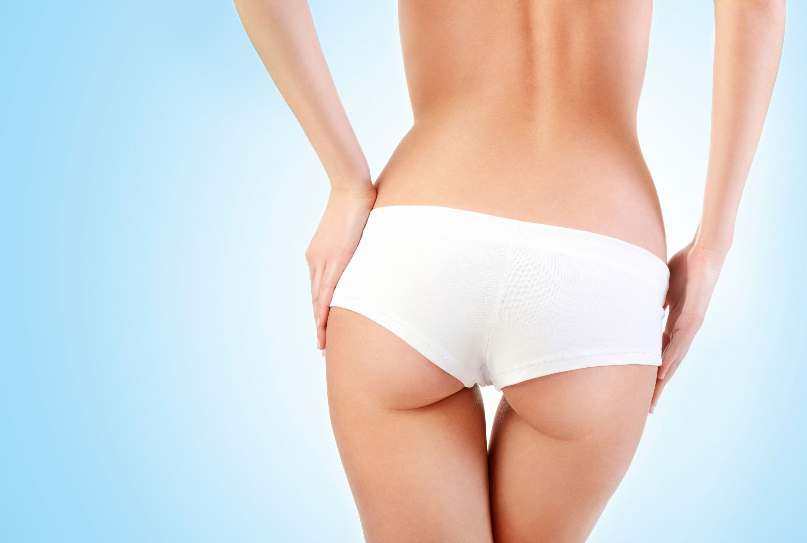 Close up of a woman's slender backside after treatment with SculpSure®