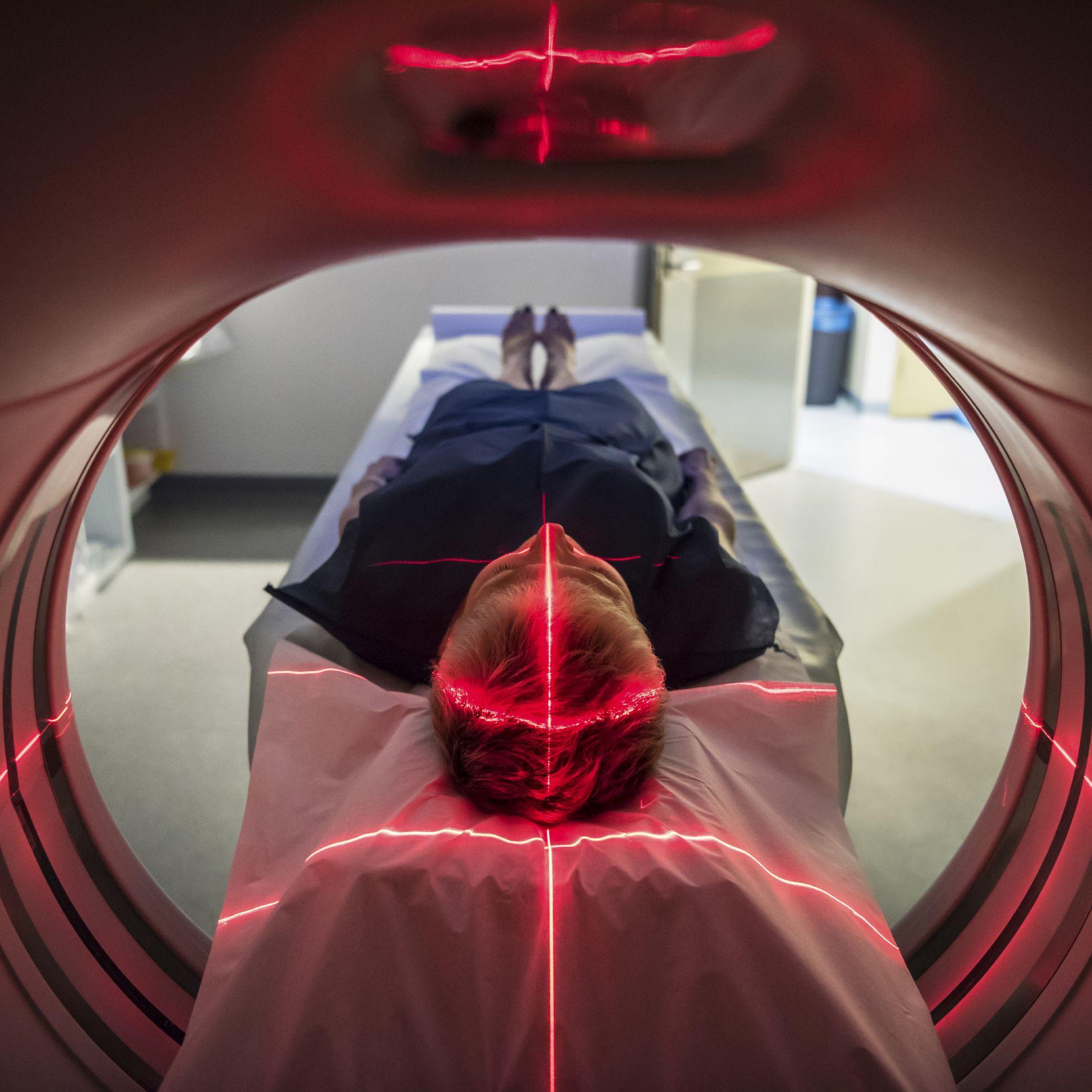 Man undergoing MRI