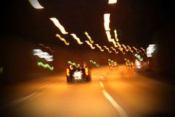 blurred vision driving