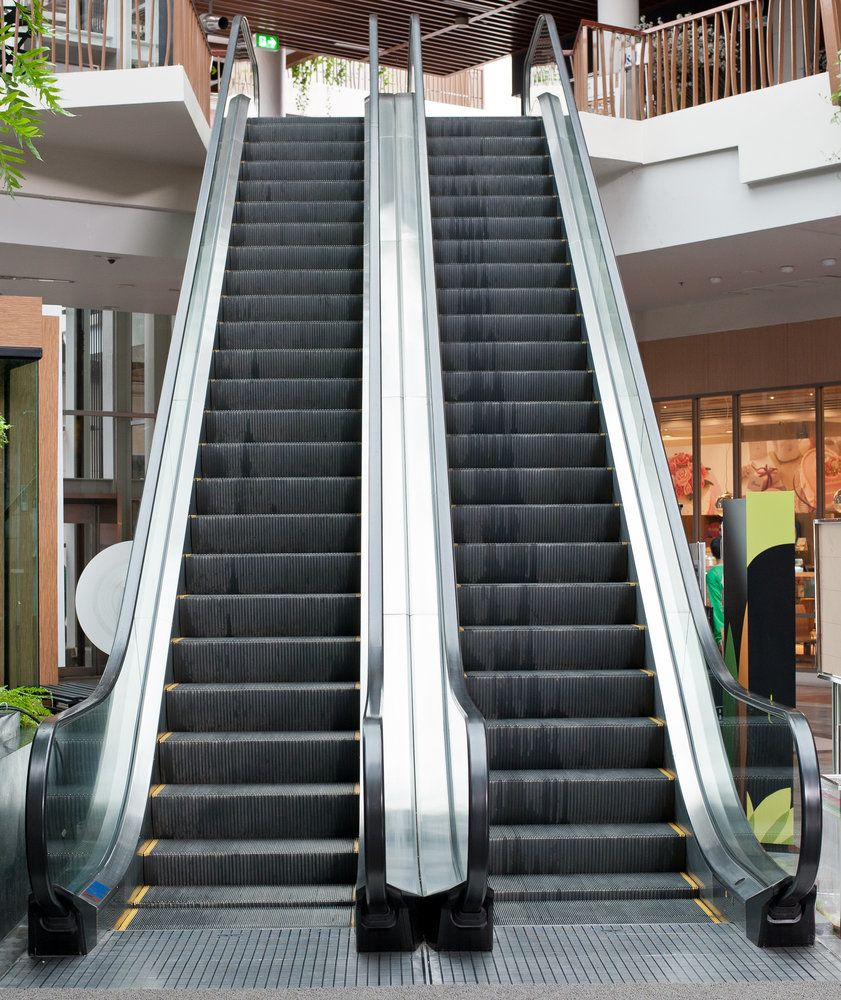 Escalators at the mall