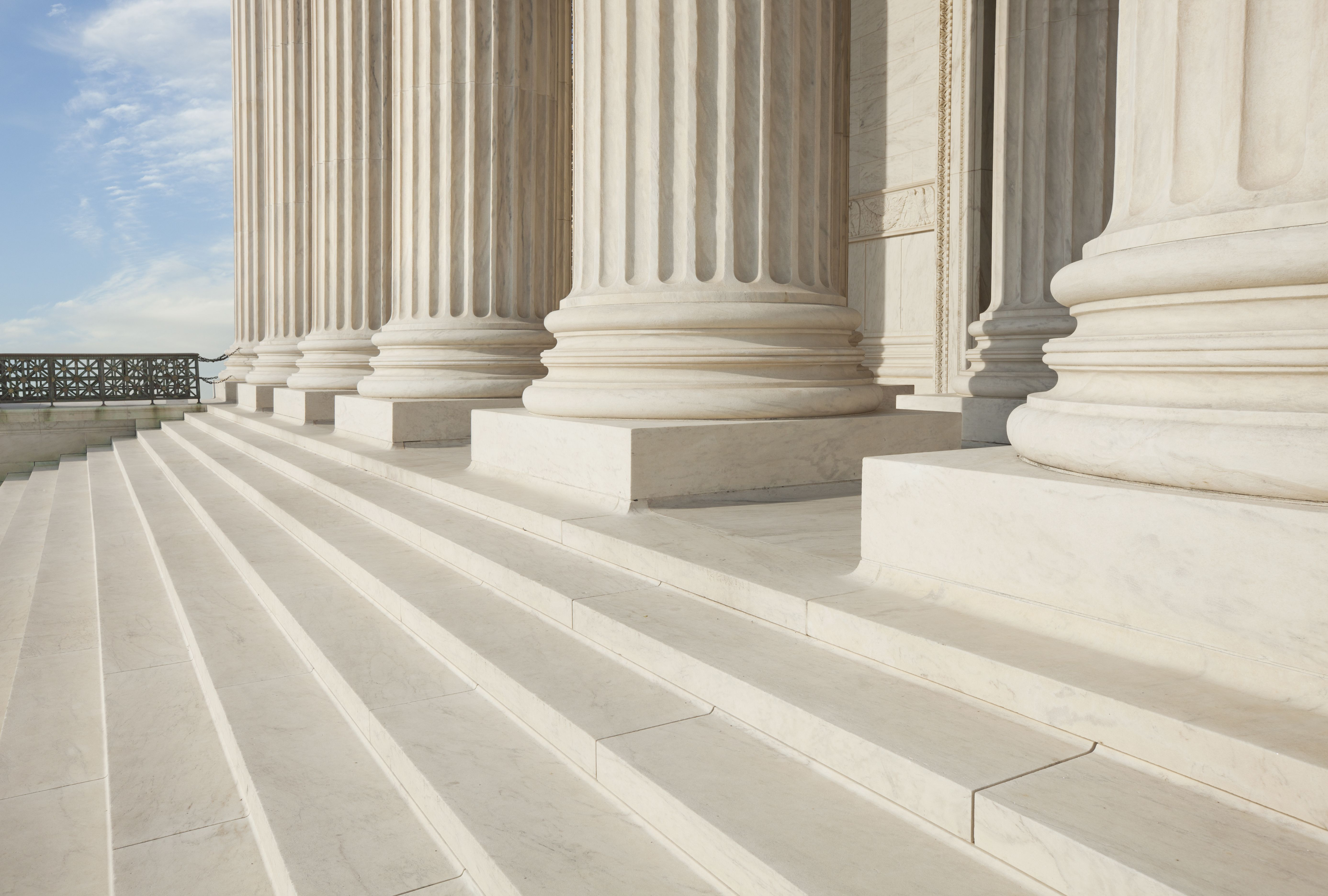 The steps of a court building