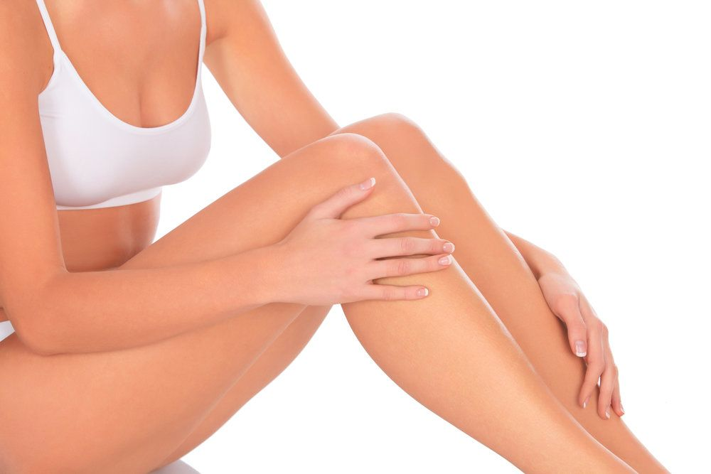 A woman's athletic leg's