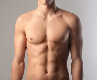 Muscular man's torso