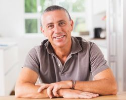 Man with attractive, natural-looking dentures