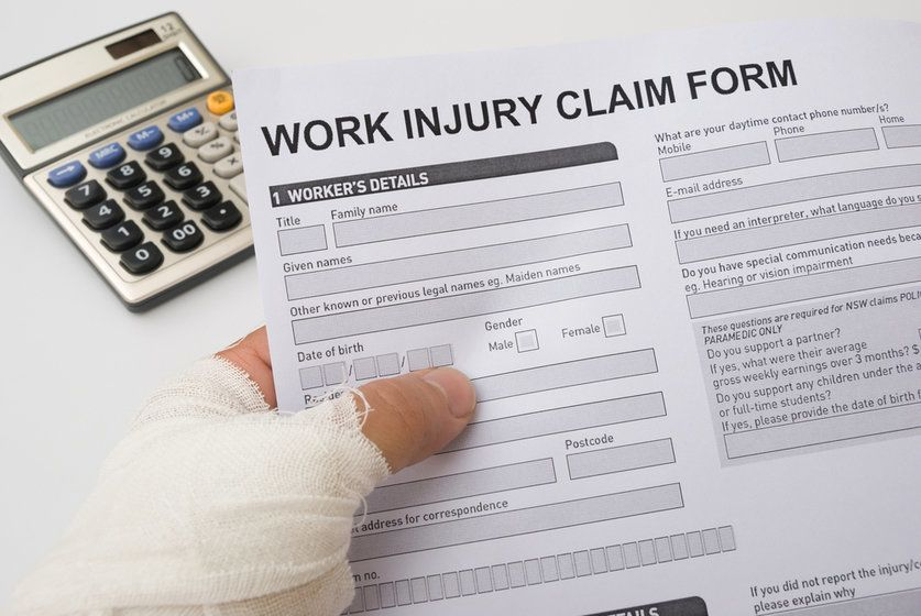 Image of workers' compensation paperwork