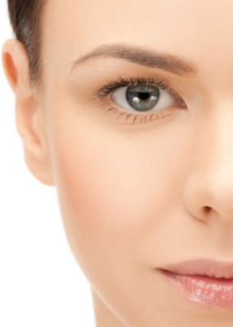 Close up of woman's glowing, smooth skin