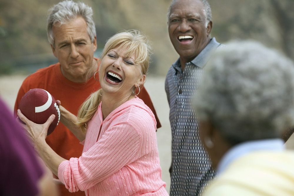 Patient enjoying contact sports after dental implants