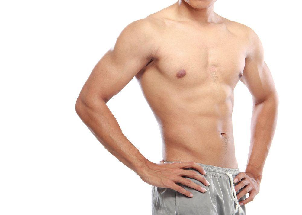 A man without a shirt
