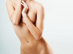 Female body with large, shapely breasts