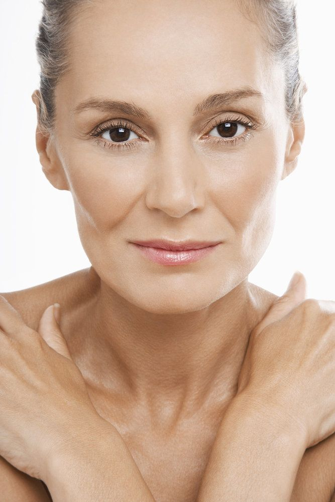 Beautiful older woman with healthy skin