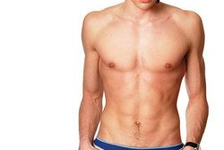 A toned and shirtless man