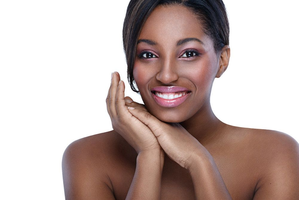 Woman with smooth, firm skin around the eyes