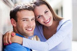 happy couple with nice smiles