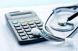 calculator and stethoscope