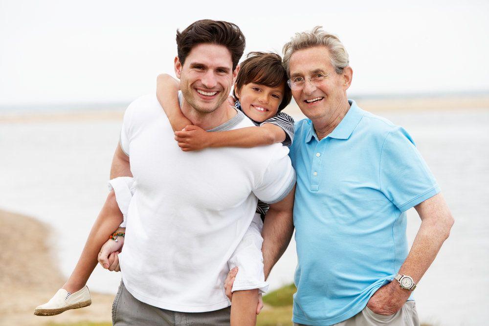 three generations of men