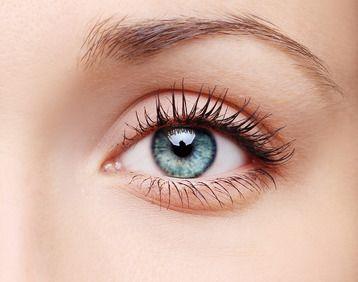 close shot of blue eye