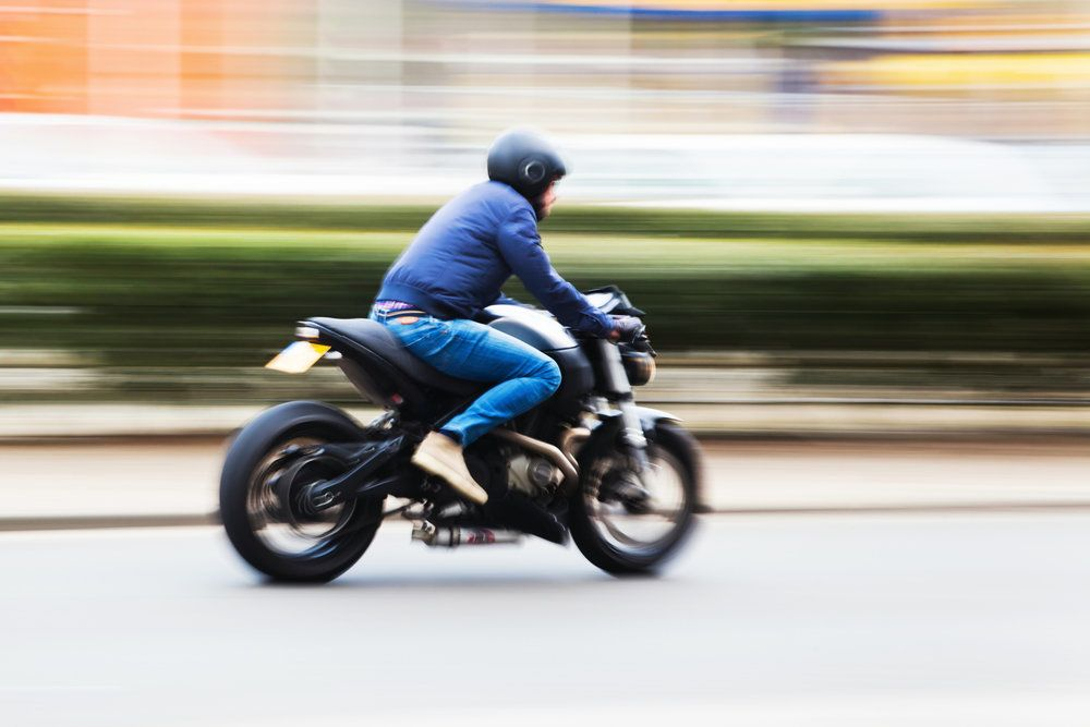 A person on a motorcycle