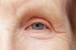 closeup of an elderly person's eye