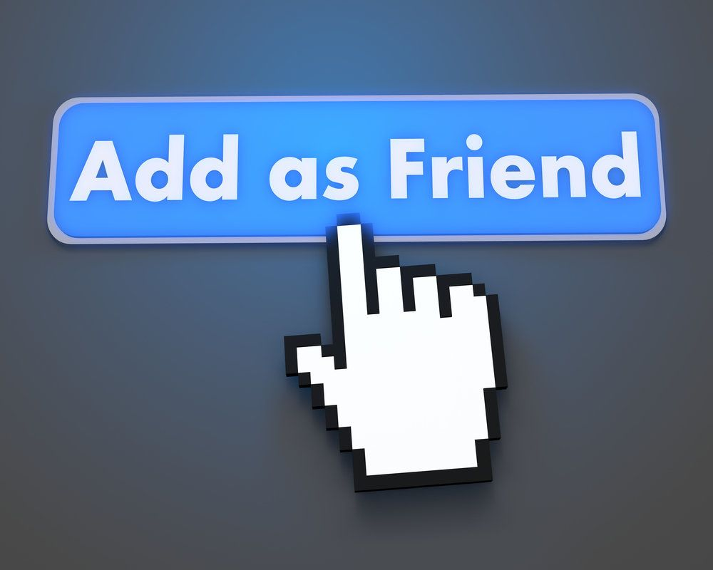 Accepting friend request on social media