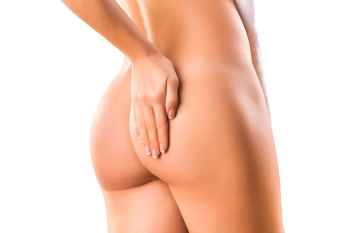A woman's shapely posterior