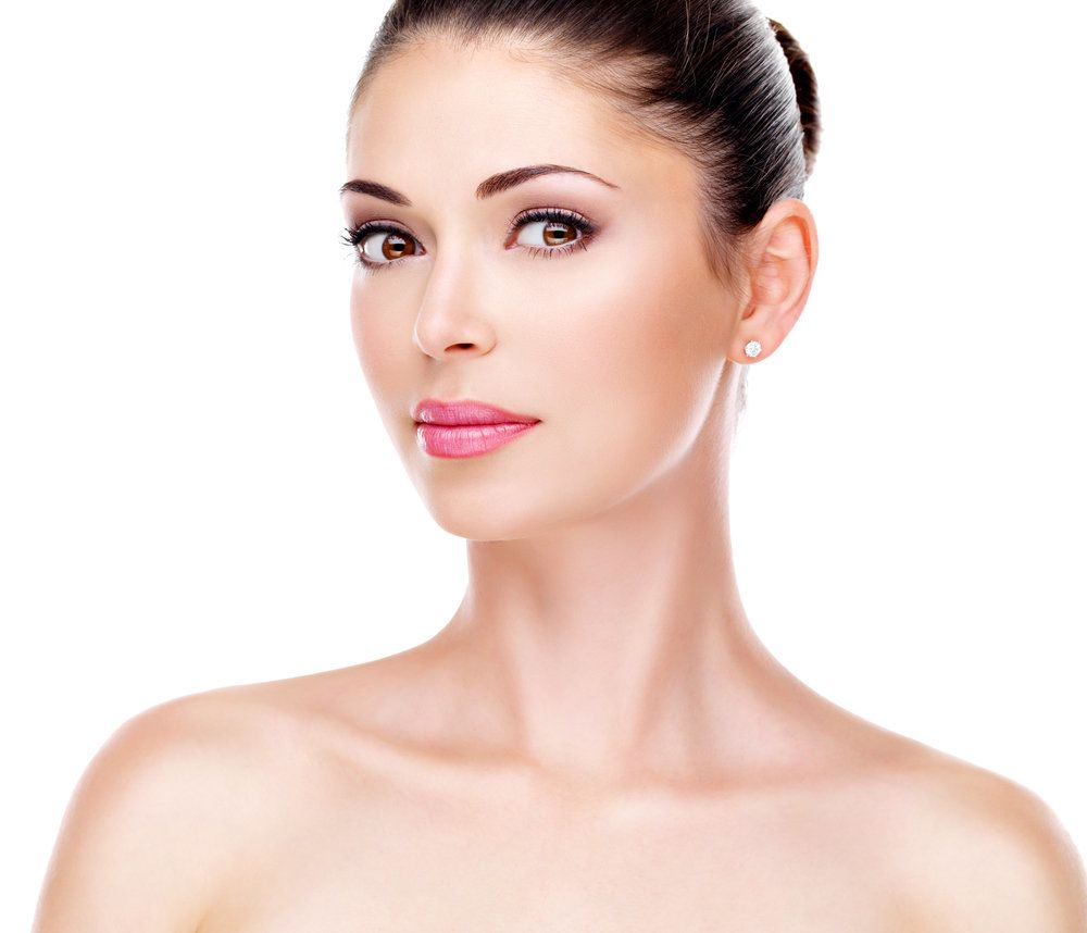 Beautiful woman with smooth, glowing skin