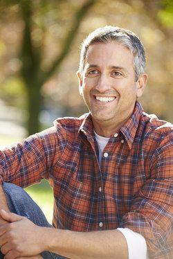 Man in flannel shirt