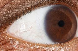 Very close up of man's eye