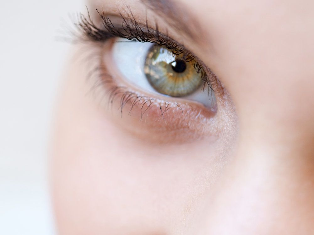 A woman's eye looking at the camera
