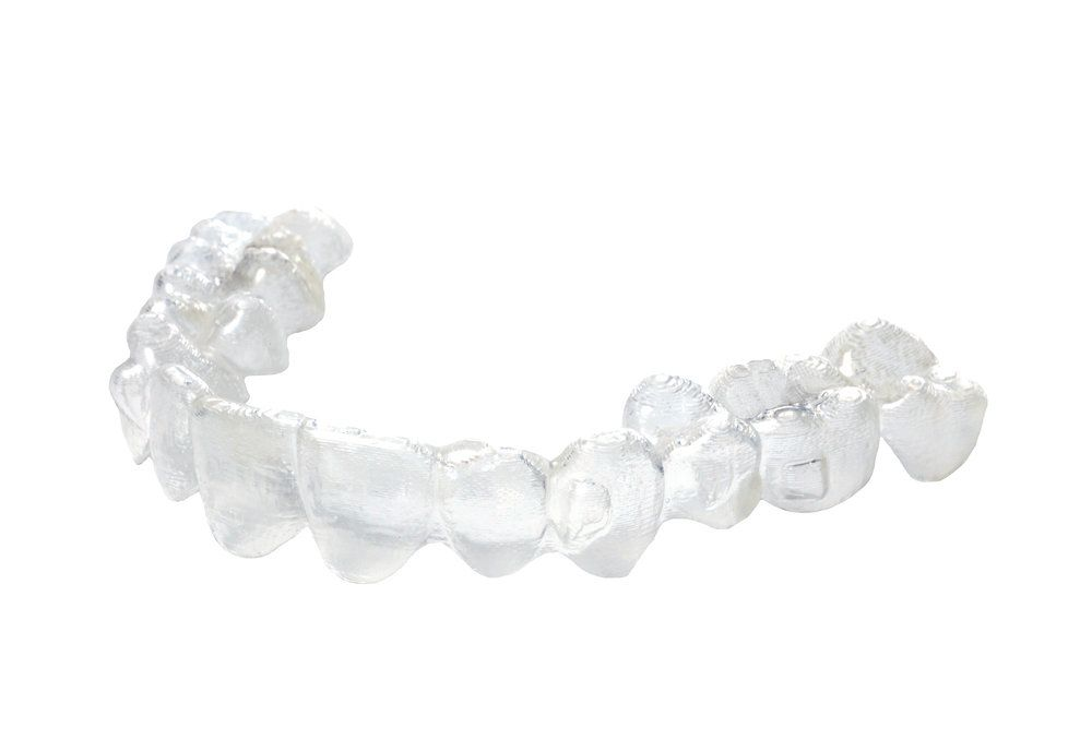 A clear Invisalign® tray