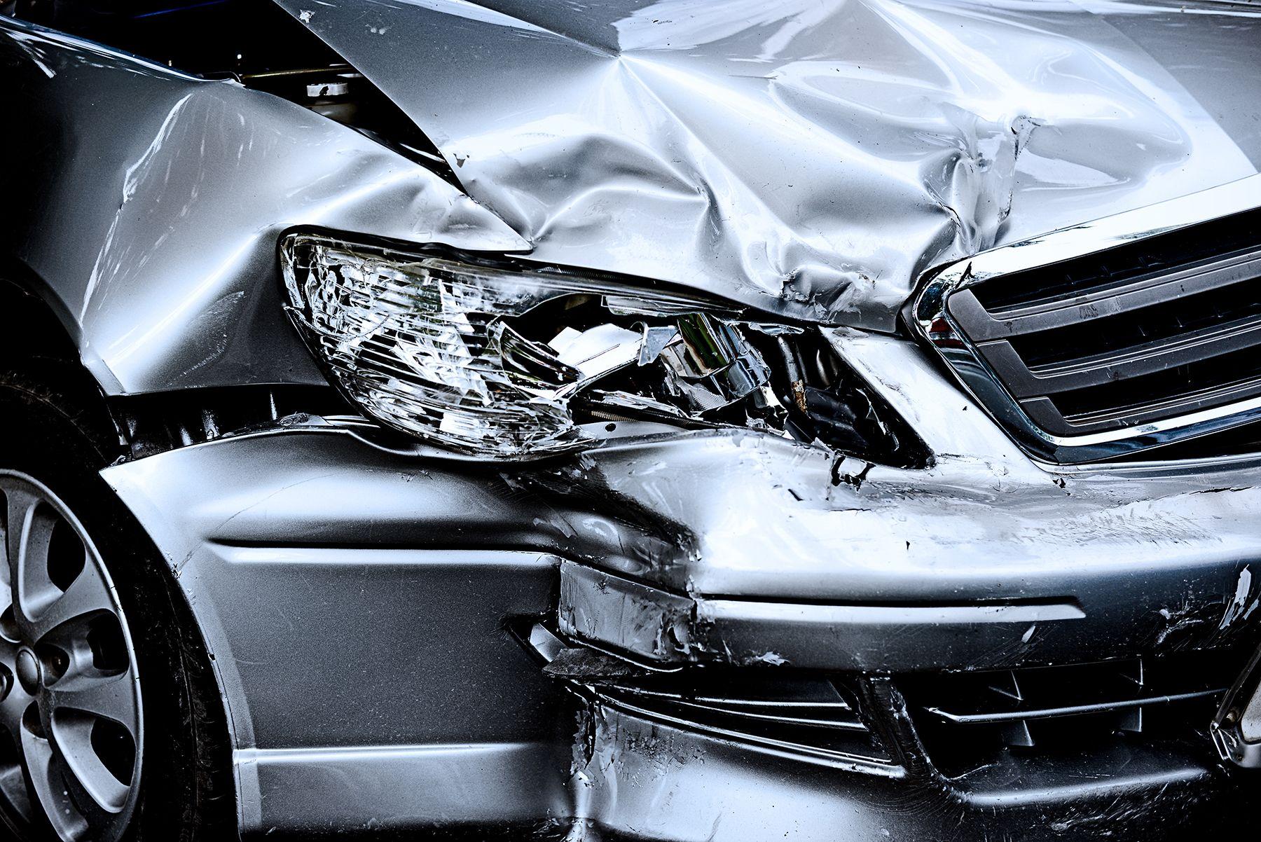 A crashed car