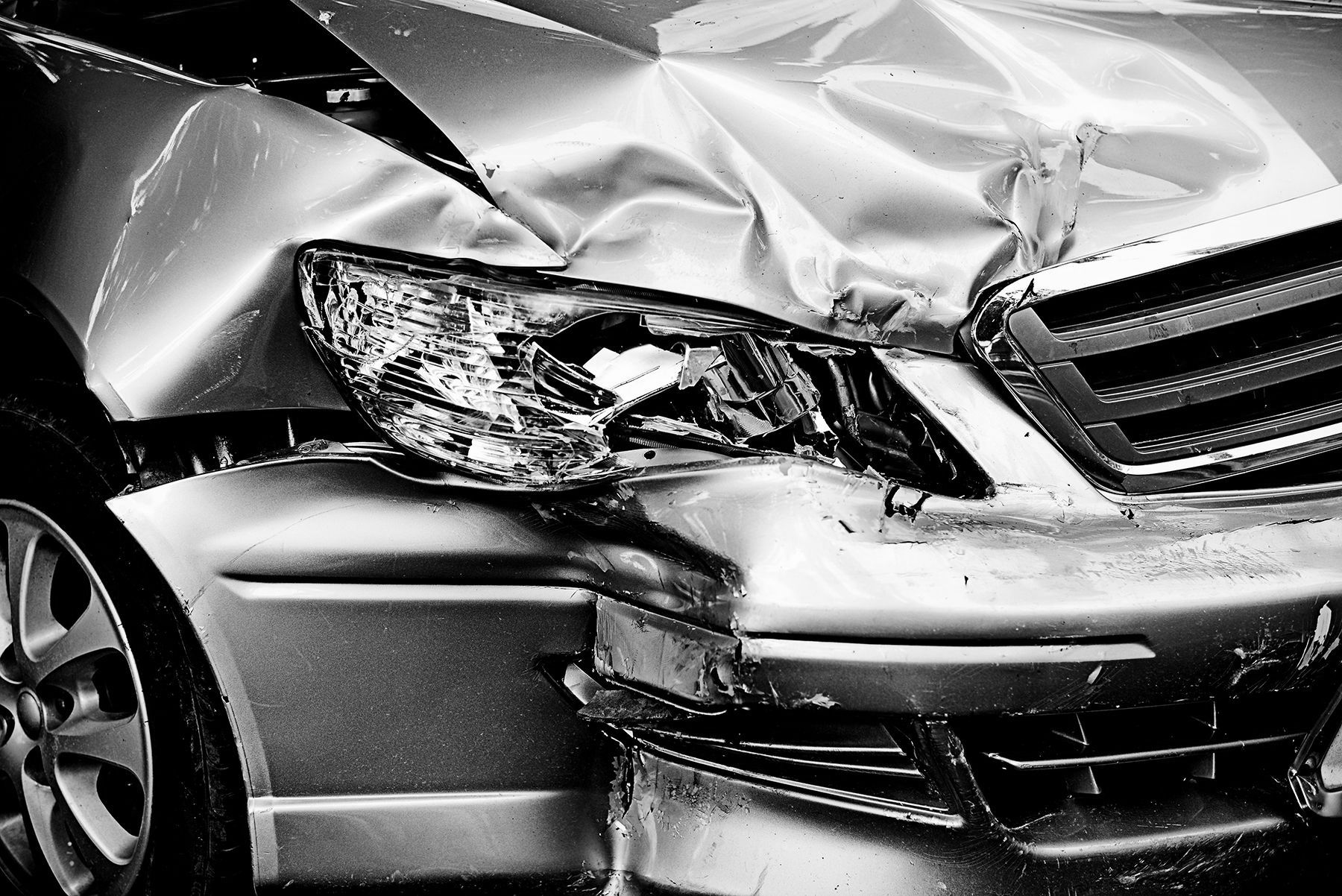Aftermath of an auto accident
