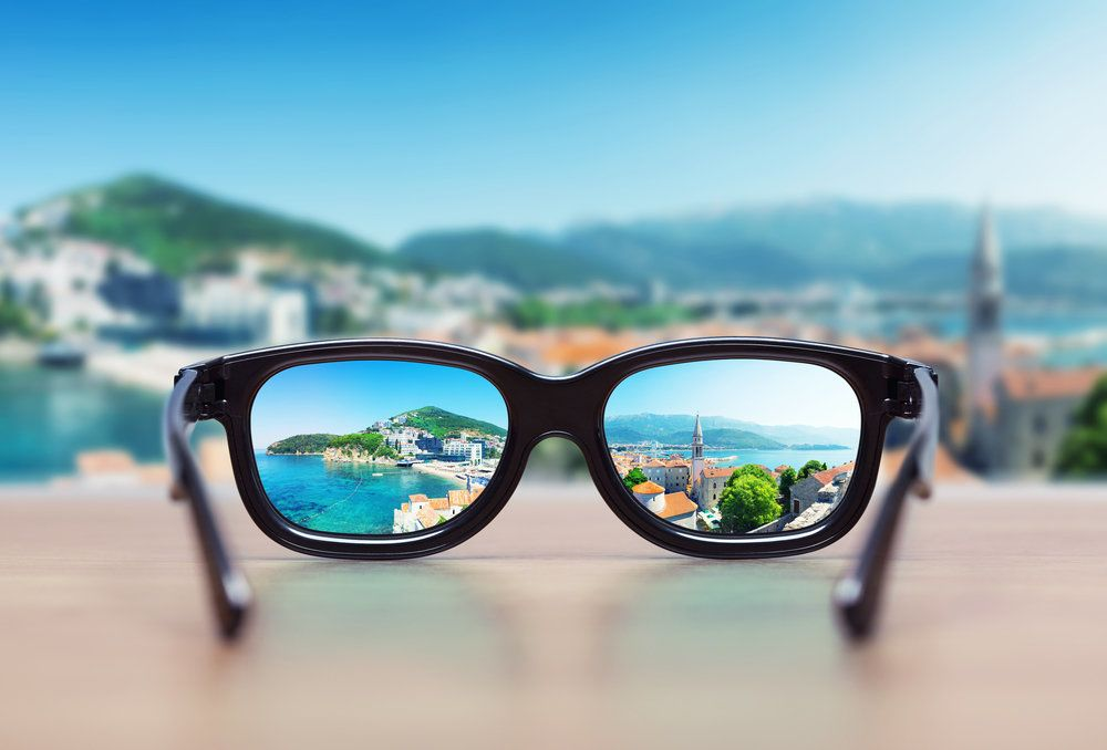 Looking at the world through a pair of glasses