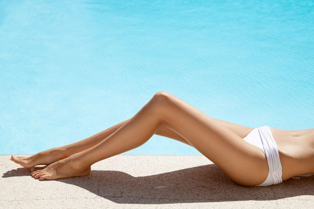 A woman's smooth, hair-free legs