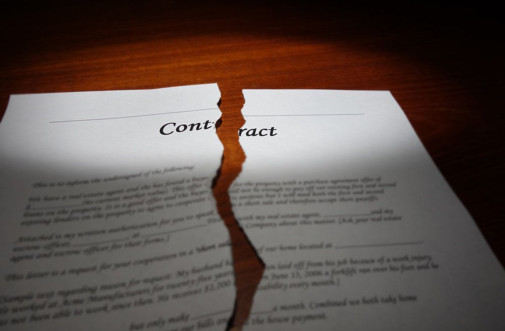 A torn contract
