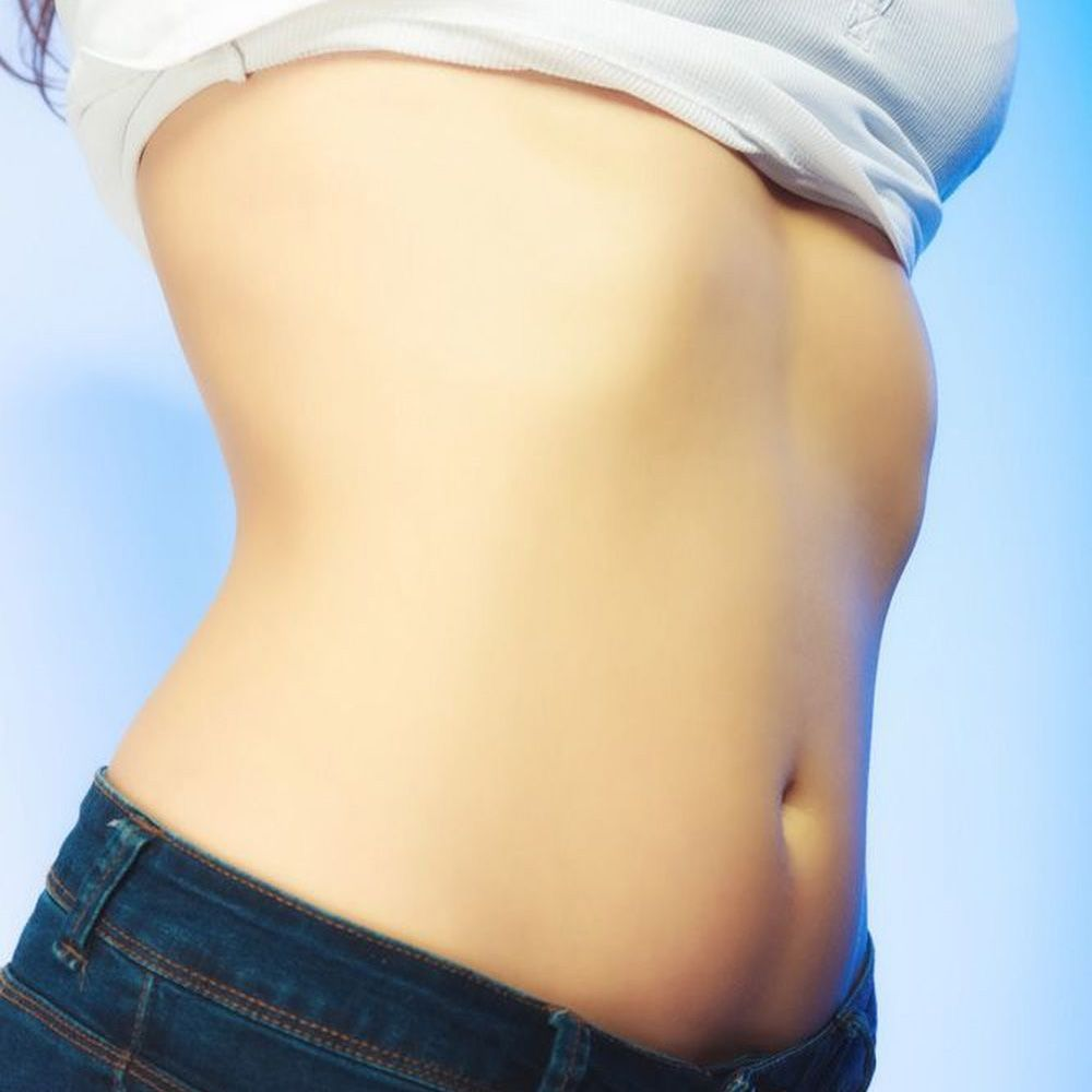 toned abdominal area