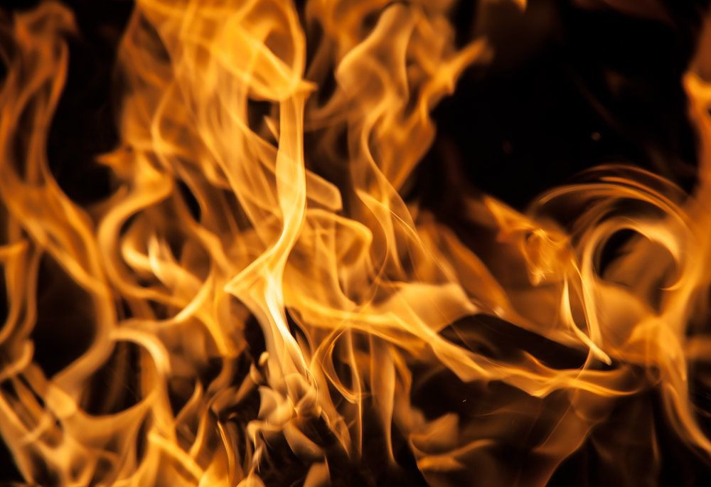 Fire and open flames can cause burn injuries