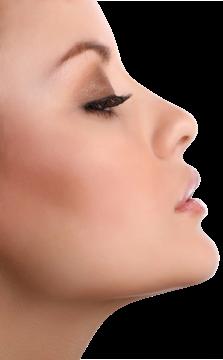 Woman's attractive profile