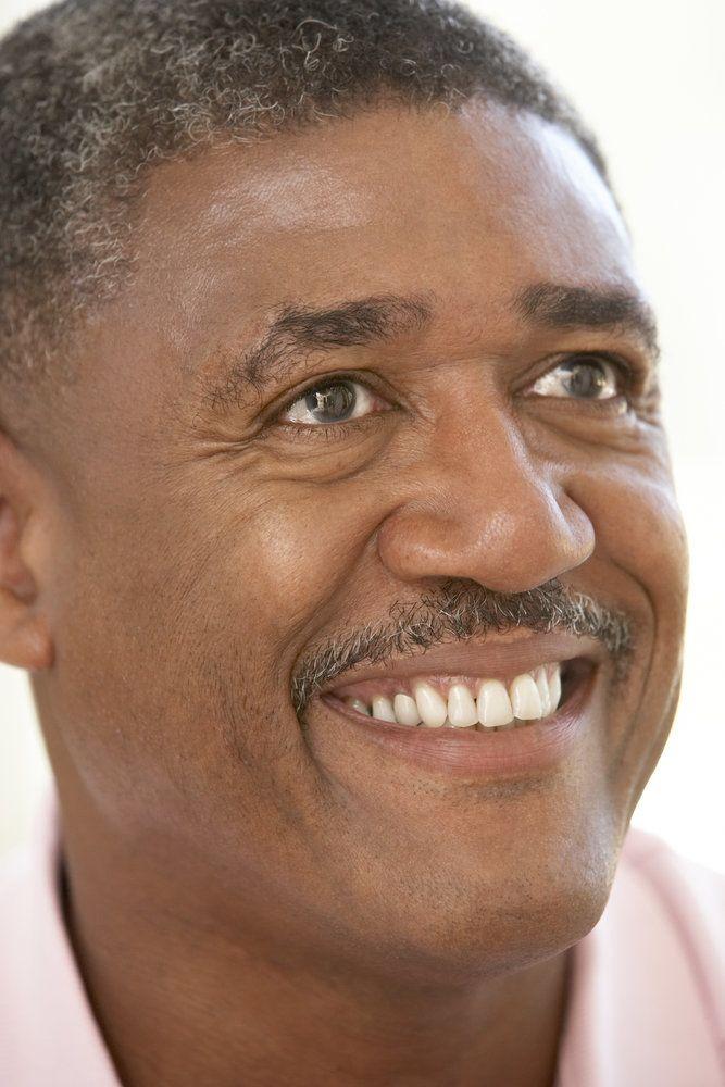 Close-up on man with dental bridge