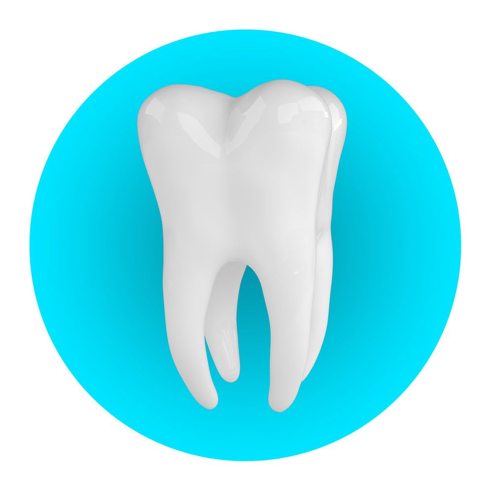 A tooth in a blue circle
