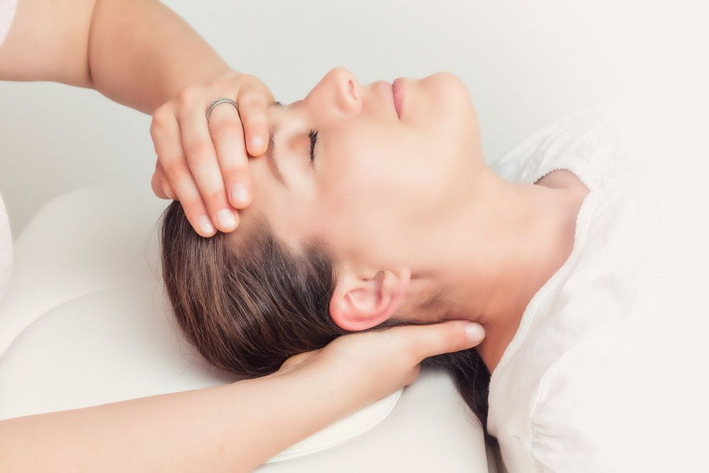 Massage of the head, neck, and scalp
