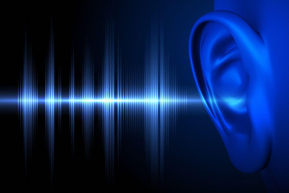 Audible sound entering the ear
