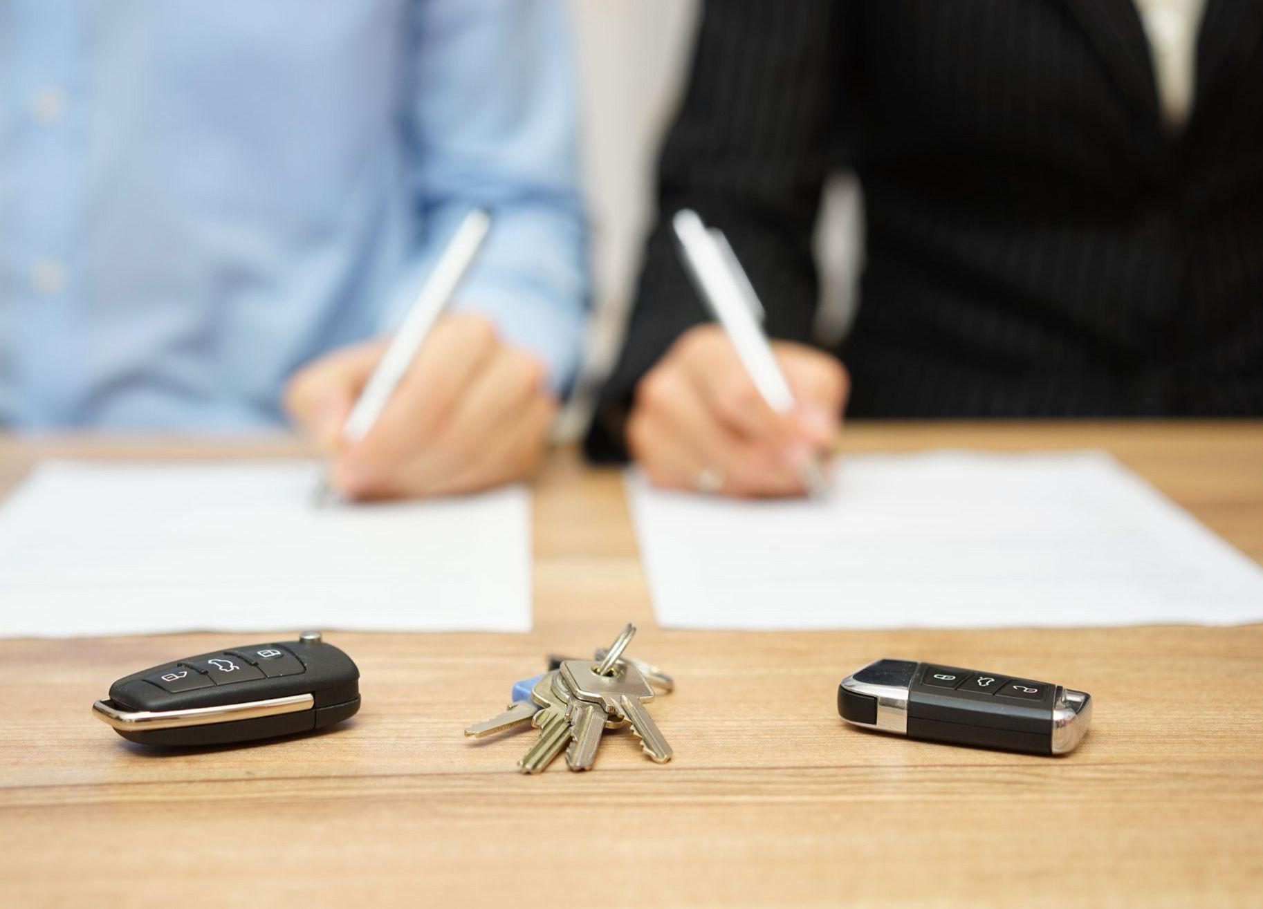 Signing divorce paperwork