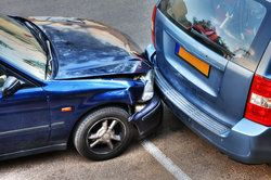 A rear-end collision while parking