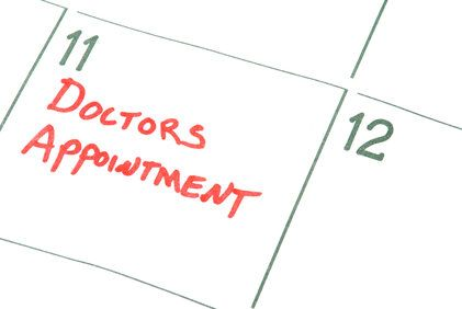 "An illustration of a calendar day with ""Doctors Appointment"" written upon it."