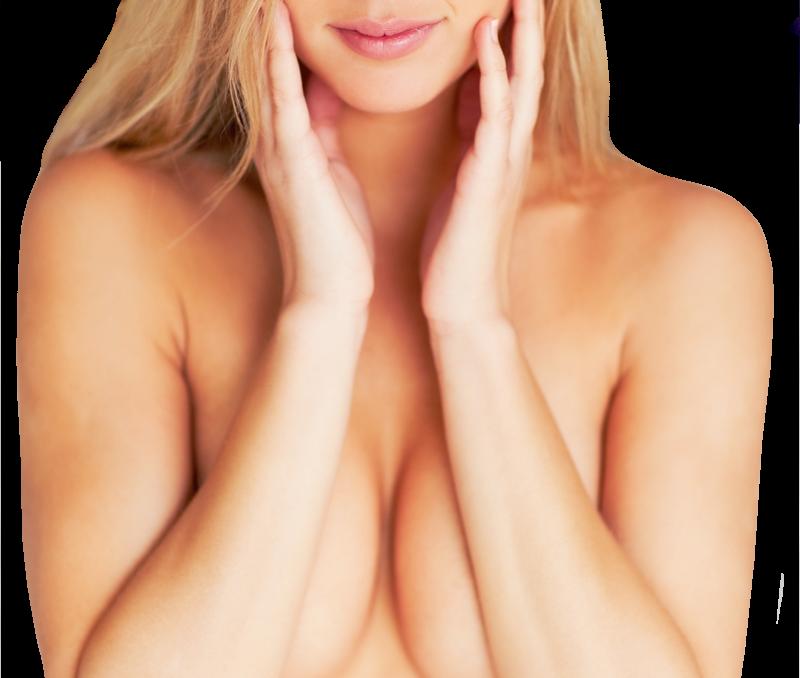 Breast Deflated saline