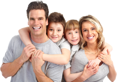 A smiling family