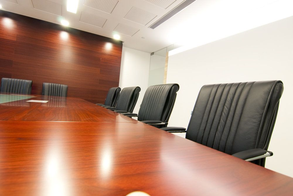 A conference room where legal mediation can take place