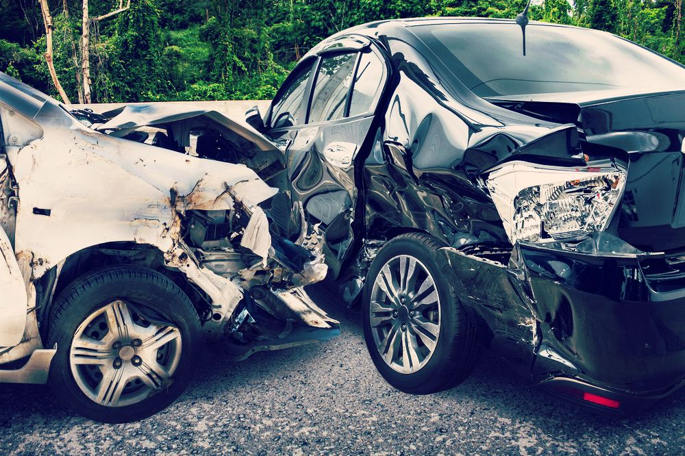 A T-bone auto accident